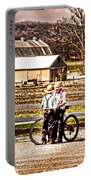 Farm Boys Country Exchange Portable Battery Charger by Randall Branham