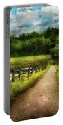 Farm - Fence - Every Journey Starts With A Path  Portable Battery Charger