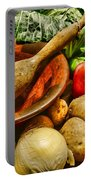 Farm Fresh Food In A Country Kitchen Portable Battery Charger