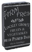 Farm Fresh Sign Portable Battery Charger