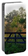 Farm Gate In Morning Light Portable Battery Charger