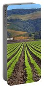 Farm Lands Of The Central Coast By Diana Sainz Portable Battery Charger