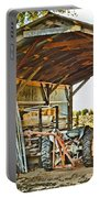 Farm Shed Digital Watercolor Portable Battery Charger