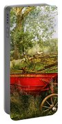 Farm - Tool - A Rusty Old Wagon Portable Battery Charger by Mike Savad