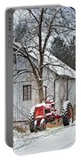 Farmall Tractor In Winter Portable Battery Charger