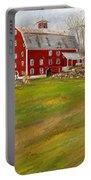 Red Barn Art- Farmhouse Inn At Robinson Farm Portable Battery Charger