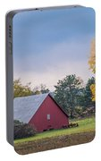 Farmstead With Fall Colors Portable Battery Charger