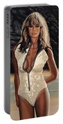 Farrah Fawcett Painting Portable Battery Charger