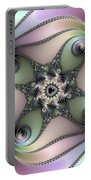 Fascinating Fractal Spirals Beautiful Metallic Colors Portable Battery Charger