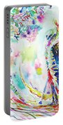 Fashion Lady And Death Under A Tree Portable Battery Charger