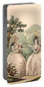 Fashion Plate Of Ladies In Summer Day Portable Battery Charger