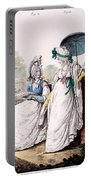 Fashion Plate Of Ladies Morning Dress Portable Battery Charger