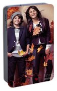 Fashionably Dressed Boy And Teenage Girl Fall Fashion Portable Battery Charger