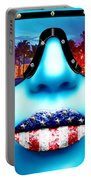 Fashionista Miami Blue Portable Battery Charger