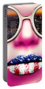Fashionista New York Pink Portable Battery Charger