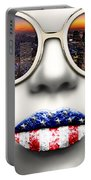 Fashionista New York Silver Portable Battery Charger