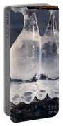 Fat Twin Icicles Over Water Surface Portable Battery Charger