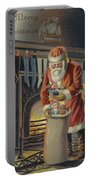 Father Christmas Filling Children's Stockings Portable Battery Charger