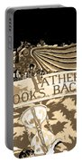 Father Time Looks Back Portable Battery Charger