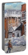 Faubourg A Melasse Montreal - Joys Of Winter By Prankearts Portable Battery Charger