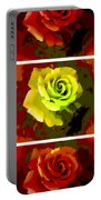 Fauvism Roses Triptych Portable Battery Charger