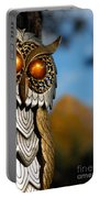 Faux Owl With Golden Eyes Portable Battery Charger