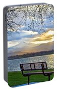 Favorite Bench And Lake View Portable Battery Charger