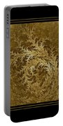 Fear Of The Forest-2 Framed Black And Gold Portable Battery Charger