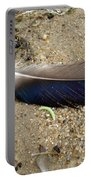 Feather And Inchworm Portable Battery Charger