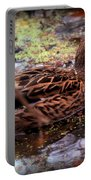 Feathers In Autumn Portable Battery Charger