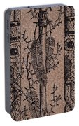 Feathers Thorns And Broken Arrow Bookmark No1 Portable Battery Charger