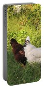Feeding Chickens Portable Battery Charger