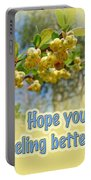 Feel Better Soon Greeting Card - Barberry Blossoms Portable Battery Charger
