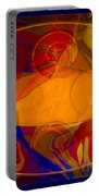 Feeling At Home With Uncertainty Abstract Healing Art Portable Battery Charger