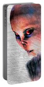 Female Alien Portrait Portable Battery Charger
