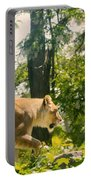 Female Lion On The Move Portable Battery Charger
