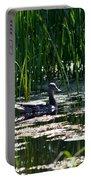 Female Mallard Duck Swimming Portable Battery Charger
