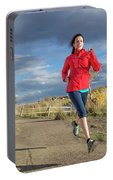 Female Runner In Colorado Portable Battery Charger