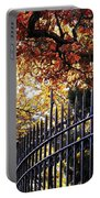 Fence At Woodlawn Cemetery Portable Battery Charger
