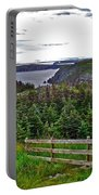 Fence In Fields At Long Point In Twillingate-nl Portable Battery Charger