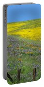 Fenced In Flowers Portable Battery Charger