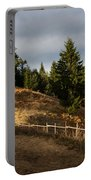 Fenced In Warm Autumn Light Portable Battery Charger