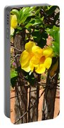 Fency Free Brazlian Flowers Portable Battery Charger