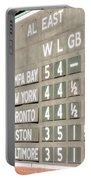Fenway Park Al East Scoreboard Standings Portable Battery Charger