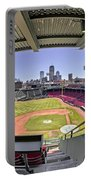 Fenway Park And Boston Skyline Portable Battery Charger