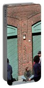 Fenway Park - Fans And Locked Gate Portable Battery Charger by Frank Romeo