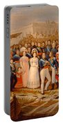 Ferdinand Vii Disembarking In The Port Of Santa Maria, 19th Century Oil On Canvas Portable Battery Charger
