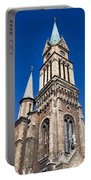 Ferencvaros Church Tower In Budapest Portable Battery Charger