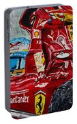 Fernando Alonso And Ferrari F10 Portable Battery Charger