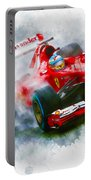 Fernando Alonso Of Spain Portable Battery Charger